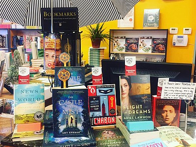 Magical moment at Rainy Day Books in Kansas City! On the table next to Michael Chabon's The Adventures of Cavalier and Clay Seriously !! Okay